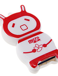 Mini USB Memory Card Reader (rood + wit)