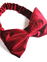 Moda feminina Big Bow Velvet Headbands