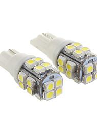 Ampoule T10 20x3528SMD Cool White lumière LED pour voiture (12V, 2 pcs)