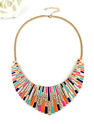 Kayshine Multi-Color Punk Metal Tassels Sweater Necklace