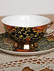 Ficus Elastica tazza di caffè, porcellana 7 oz