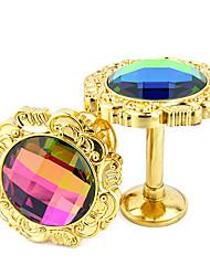 Fancy Euro Colored Diamonds Inlay Holdbacks (One Pair)