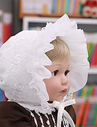 Girl's Ruffle Hem Crochet Hat