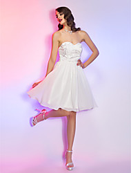 Homecoming Cocktail Party/Homecoming/Holiday/Graduation Dress - Ivory Plus Sizes A-line Sweetheart Knee-length Chiffon/Lace