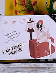 """6.5""""H Cartoon Style Black Table Top Picture Frame"""