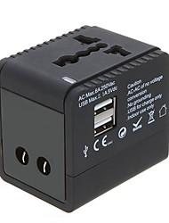 2USB Worldwide Travel Adapter Carregador Universal EUA EU UK Plug UA 5V 2.1A