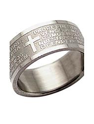 Anéis Mulheres Titânio Titânio 9½ PrataRepresentação de estilo & cor pode variar de monitor. Não nos responsabilizamos por erros