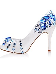 Women's Wedding Shoes Platform/Open Toe Heels Wedding/Party & Evening Blue