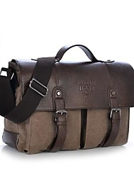 Vintage Men Women Canvas Laptop Briefcase Handbag