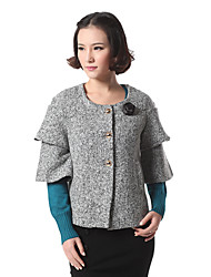 Women's Polyester/Wool Casual TOP OF THE TOWN