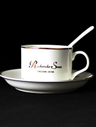 R Mark Coffee Mug,Porcelain 5oz