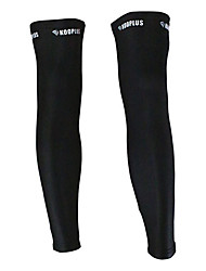KOOPLUS - Norwegian National Team Polyester+Lycra Black Cycling Leg Warmer