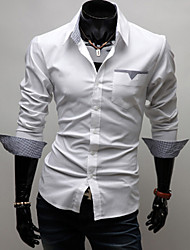 Men's Long Sleeve Shirt , Cotton Casual
