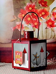 Wedding Décor Red Paint-drying Metal Candle Holder