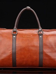 Fashion Style Mens Womens Genuine Leather Travel Tote Duffle Bag
