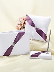 Splendor Wedding Collection Set With Purple Sash (3 Pieces)