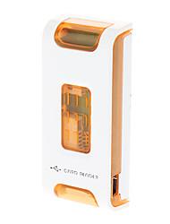 All-in-One USB 2.0 Memory Card Reader (Blau, Orange)