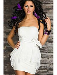 Women's Elegant Strapless Bowknot Dress