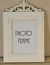 "11 ""Cadre H Retro Style Blanc Image"