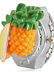 Conception d'ananas alliage d'argent Bague à quartz Montre fille