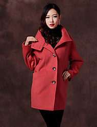 Women's Coats & Jackets , Wool Casual/Work Duolabana