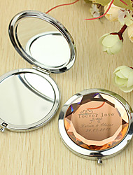 Персональный подарок Forever Love Pattern Chrome Compact Mirror