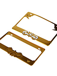 Motorcycle Bat-Man License Plate Frame (Gold,23*16cm)