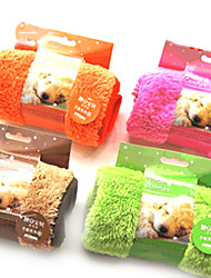 Dog Towel / Cleaning Pet Mats & Pads Soft Green / Brown / Pink / Orange Polar Fleece