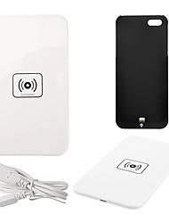ци беспроводной зарядное устройство белый зарядки площадку с черным приемником для Iphone 5