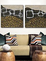 Impressão em tela esticada Abstract Art vazio Box Set de 2