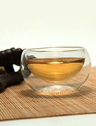 Elegant Double-layer Tea Cups, Glass 100ML