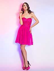 TS Couture® Cocktail Party / Homecoming / Holiday Dress - Short Plus Size / Petite A-line Sweetheart Short / Mini Chiffon / Lace with