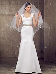 Un palier chapelle voile de la mariée avec le papillon