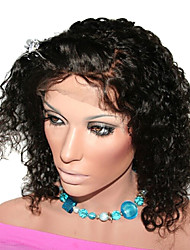 "12"" Indian Remy Human Hair lace Front Wigs"