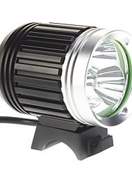 4-Mode 3xCree XM-L T6 LED bicicleta Lanterna / Farol (3000LM, 4x18650, Preto)