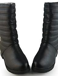 Yangguangjiemei cómodo cadena de metal de moda decorativo Botas (Negro)