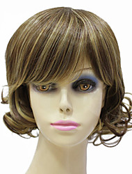 Capless Synthetic Short Mixed Color Curly Hair Wig