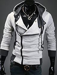 Shangdu moda para adelgazar con capucha Cardigan (gris claro)