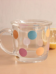 Polka Dot Pattern Class with Cup Cover