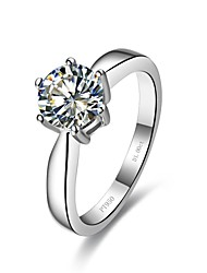 Classic Women's 2CT White NSCD Simulated  Diamond  Wedding Engagement Rings(H-J) (1 Pc)