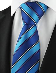 Новый полосатые флота мужской галстук Формальные костюмы Галстук для свадьбы Сувениры