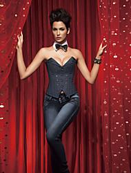 jean fecho e lace-up corset shapewear shaper lingerie sexy