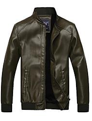 Emerald style Slim ARW Hommes Ajout souple Nap PU cuir manteau