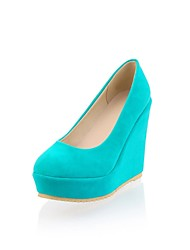 Women's Shoes Suede Spring / Summer / Fall Heels / Platform Party & Evening Wedge Heel Others Blue / Red / Ivory