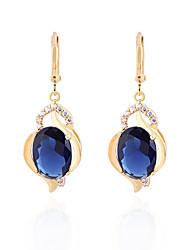 XINXIN Women's 18K Gold Zircon Earrings ER0457