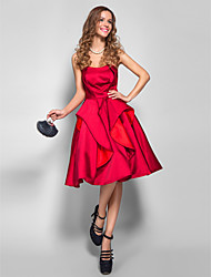 TS Couture® Cocktail Party / Homecoming / Holiday / Company Party Dress - 1950s Plus Size / Petite A-line Strapless Knee-length Satin