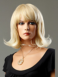 100% Japanese Kanekalon Synthetic Short Curly Wig(Ash Blonde)
