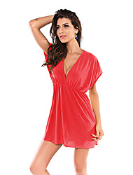 Coral Classic Beach Cover-up Mini Dress