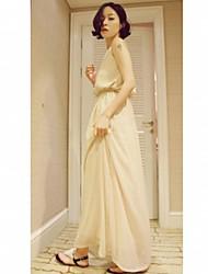 Chaoliu Backless Bohemia Long Strap Dress