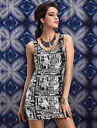 Black and White jornal impresso Nightclub Sexy Partido das Mulheres Uniforme (para o tamanho M)